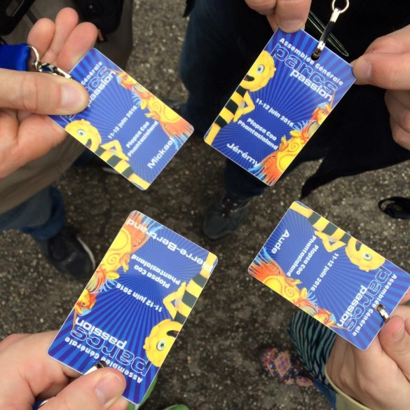 Parcs Passion à Plopsa Coo et Phantasialand 2016 - traditionnelle photo des badges