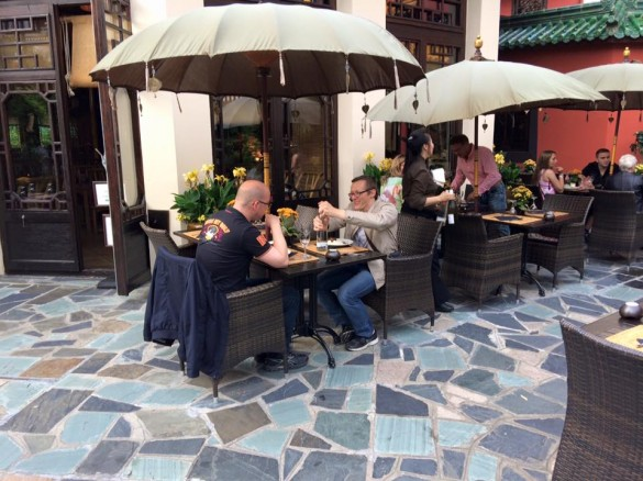 Parcs Passion à Phantasialand 2016 - des adhérents au restaurant Bambu du Ling Bao