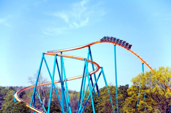 La first drop hors-normes de Goliath <3 (photo : Six Flags)
