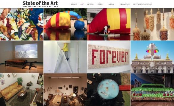 Quelques œuvres sur le site de l'exposition (photo : Crystal Bgridges Museum & DR)