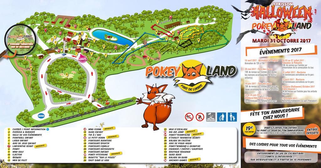 Plan du parc, cliquez pour agrandir.