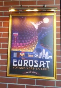 Affiche dans la file d'attente Cancan Coaster (photo : © Parcs Passion)
